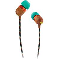 Marley Smile Jamaica In-Ear Headphone with 1-Button Mic - Rasta - EM-JE041-RA / EMJE041RA - IN STOCK
