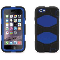 Griffin Technology Survivor All-Terrain Case for iPhone 6 (Black/Blue) - GB38905 - IN STOCK