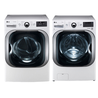 LG White Front Load Washer/Dryer Pair - WM8000PR - IN STOCK
