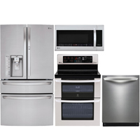 LG 4 Pc. Stainless French Door Kitchen Package - LG30DNDDKIT - IN STOCK