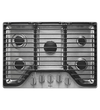 Whirlpool WCG97US0DS 30 in. Stainless 5 Burner Gas Cooktop - WCG97US0DS - IN STOCK