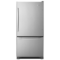 Amana ABB1924BRM 19 Cu. Ft. Stainless Bottom-Freezer Refrigerator - ABB1924BRM - IN STOCK