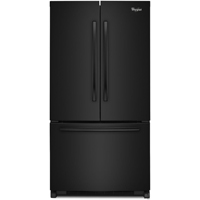 Whirlpool WRF540CWBB 19.6 Cu. Ft. Black Counter-Depth French Door Refrigerator - WRF540CWBB - IN STOCK