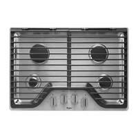 Whirlpool WCG75US0DS 30 in. Stainless 4 Burner Gas Cooktop - WCG75US0DS - IN STOCK