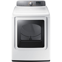 Samsung DV48H7400EW Electric 7.4 Cu. Ft. White High Efficiency Top Load Steam Dryer - DV48H7400EW - IN STOCK