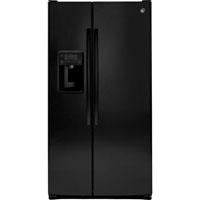 G.E. GSS25GGHBB 25.4 cu. ft. Black Side by Side Refrigerator - GSS25GGHBB - IN STOCK