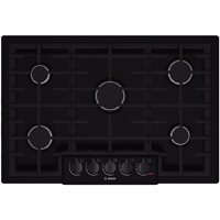 Bosch 800 Series NGM8065UC 30 in. Black 5 Burner Gas Cooktop - NGM8065UC - IN STOCK