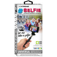 Xtreme #Selfie Stick(Black) - 51963 - IN STOCK