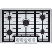 Bosch 800 Series NGM8055UC 30 in. Stainless 5 Burner Gas Cooktop - NGM8055UC - IN STOCK
