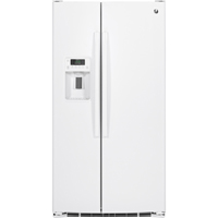 G.E. GSE25GGHWW 25.4 Cu. Ft. White Side-By-Side Refrigerator - GSE25GGHWW - IN STOCK