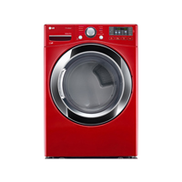LG DLEX3370R Electric  7.4 cu.ft. Cherry Red Front Load Steam Dryer - DLEX3370R - IN STOCK