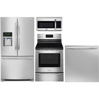 Frigidaire 4 Pc. Stainless Counter-Depth French Door Kitchen Package - FRIGGALCNTD - IN STOCK