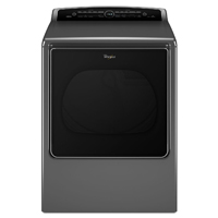 Whirlpool Cabrio� WED8500DC Electric 8.8 cu. ft. Chrome Shadow High Efficiency Top Load Steam Dryer - WED8500DC - IN STOCK