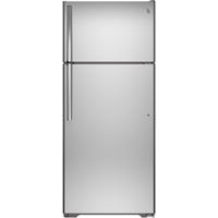 G.E. GIE18HSHSS 17.5 Cu. Ft. Stainless Top Freezer Refrigerator - GIE18HSHSS - IN STOCK