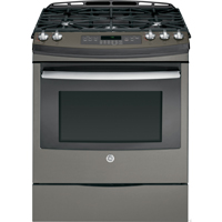 G.E. JGS750EEFES 5.6 Cu.Ft. Slate 5 Burner Slide-in Gas Range - JGS750EEFES - IN STOCK