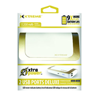 Xtreme 2 USB Ports Deluxe Power Bank(White/Gold) - 89141 - IN STOCK