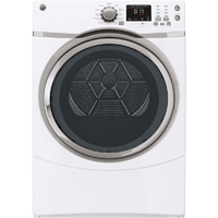 G.E. GFDS170EHWW Electric 7.5 cu. ft. White Front Load Steam Dryer  - GFDS170EHWW - IN STOCK