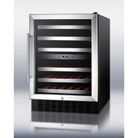 Summit 46 Bottle Dual Zone Thermoelectric Built-In Wine Refrigerator - SWC530LBIST - IN STOCK