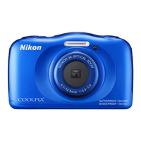 Nikon 13.2MP Waterproof Shockproof Digital Camera Blue - S33BL - IN STOCK
