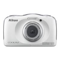 Nikon 13.2MP Waterproof Shockproof Digital Camera White - S33WH - IN STOCK