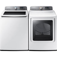 Samsung White Top Load Washer/ Front load Dryer Pair - WA48H7400WPR - IN STOCK