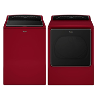 Whirlpool Red Front Load Washer/Dryer Pair - WTW8500RPR - IN STOCK