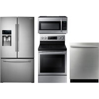 Samsung 4 Pc. Stainless Kitchen Package - RF28DNDSSKIT - IN STOCK