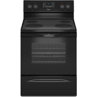 Whirlpool WFE515S0EB 5.3 Cu. Ft. Black Freestanding Range - WFE515S0EB - IN STOCK