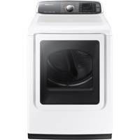 Samsung DV52J8700EP Electric 7.4 cu. ft. White High Efficiency Top Load Steam Dryer - DV52J8700EW - IN STOCK