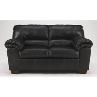 Ashley Signature Design Black Commando Loveseat with Pillow Top Arms - 6450035 - IN STOCK