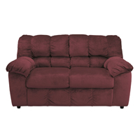 Ashley Signature Design Julson Burgundy Contemporary Loveseat - 2660235 - IN STOCK