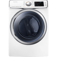 Samsung DV45H6300EW Electric 7.5 cu. ft. White Front Load Steam Dryer - DV45H6300EW - IN STOCK