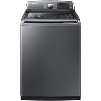 Samsung WA52J8700AP 5.2 Cu Ft Platinum High Efficiency Top Load ActiveWash Steam Washer - WA52J8700AP - IN STOCK