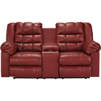 Ashley Signature Design Brolayne Garnet Contemporary DuraBlend Reclining Loveseat - 8320394 - IN STOCK