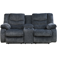 Ashley Signature Design 9200196 Garek Blue Double Reclining Power Console Loveseat - 9200196 / 9200196 - IN STOCK