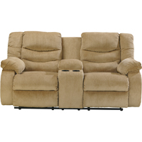 Ashley Signature Design 9200294 Garek Sand Double Reclining Loveseat with Storage Console - 9200294 / 9200294 - IN STOCK