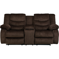 Ashley Signature Design Garek Cocao Double Reclining Loveseat with Storage Console - 9200394 - IN STOCK