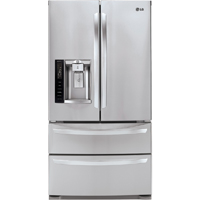 LG LMXS27626S 26.7 Cu. Ft. Stainless 4 Door French Door Refrigerator - LMXS27626S - IN STOCK