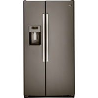 G.E. GSS23HMHES 22.5 Cu. Ft. 33 in. Width Slate Side-by-side Refrigerator - GSS23HMHES - IN STOCK