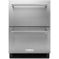 Kitchen Aid KUDR204ESB 4.7 Cu. Ft. Stainless Double Refrigerator Drawer - KUDR204ESB - IN STOCK