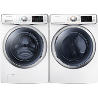 Samsung White Front Load Washer & Dryer Pair - WF45H6300WPR - IN STOCK