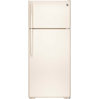 G.E. GIE18GTHCC 17.5 Cu. Ft. Bisque Top Freezer Refrigerator - GIE18GTHCC - IN STOCK