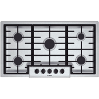 Bosch 500 Series NGM5655UC 36 in. Stainless 5 Burner Gas Cooktop - NGM5655UC - IN STOCK