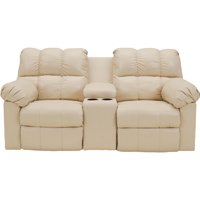 Ashley Signature Design 2900296 Kennard Cream Contemporary Power Double Reclining Loveseat - 2900296 / 2900296 - IN STOCK
