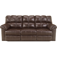 Ashley Signature Design Kennard Chocolate Contemporary Reclining Sofa - 2900188 - IN STOCK