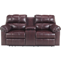 Ashley Signature Design Kennard Burgundy Contemporary Double Reclining Loveseat - 2900094 - IN STOCK
