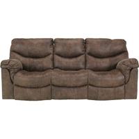 Ashley Signature Design Alzena Gunsmoke Contemporary Reclining Sofa - 7140088 - IN STOCK