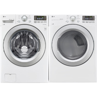 LG White Front Load Washer & Dryer Pair - WM3170PR - IN STOCK