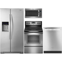 Whirlpool 4 Pc. Stainless Side-by-Side Kitchen Package - WRS576SSKIT - IN STOCK