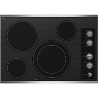 Whirlpool Gold G7CE3635XB 30 in. Stainless 5 Burner Electric Cooktop - G7CE3034XS - IN STOCK